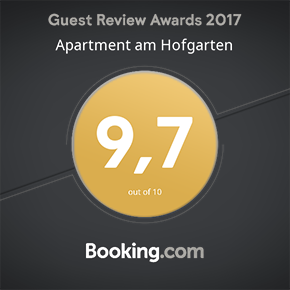 Booking.com Guest Review Award: 9,7 out of 10